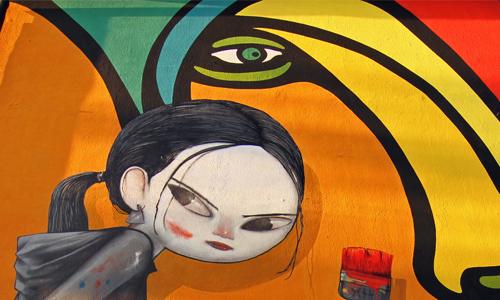 Seth y Mono González arte urbano en Chile