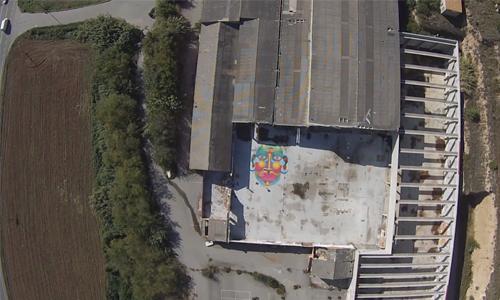 Arte urbano con drone, digerible