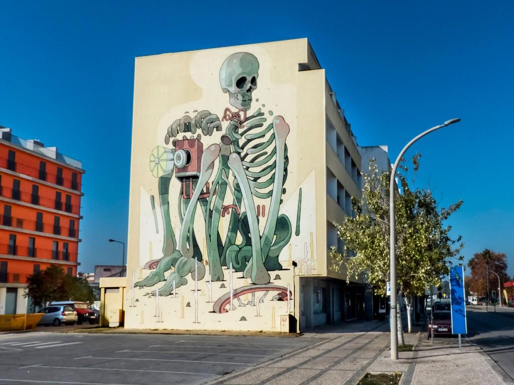Aryz, arte urbano, Lagos Portugal