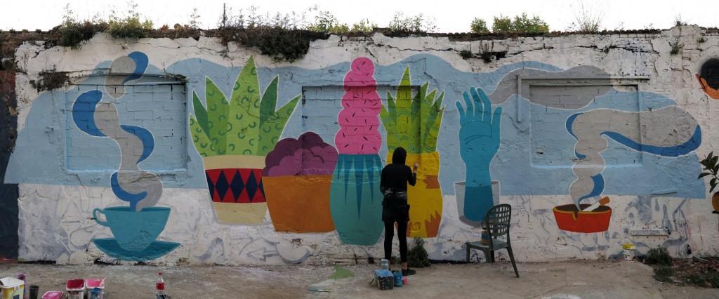 Bera White, arte urbano en Barcelona