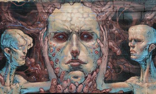 Enric Sant arte urbano en Barcelona