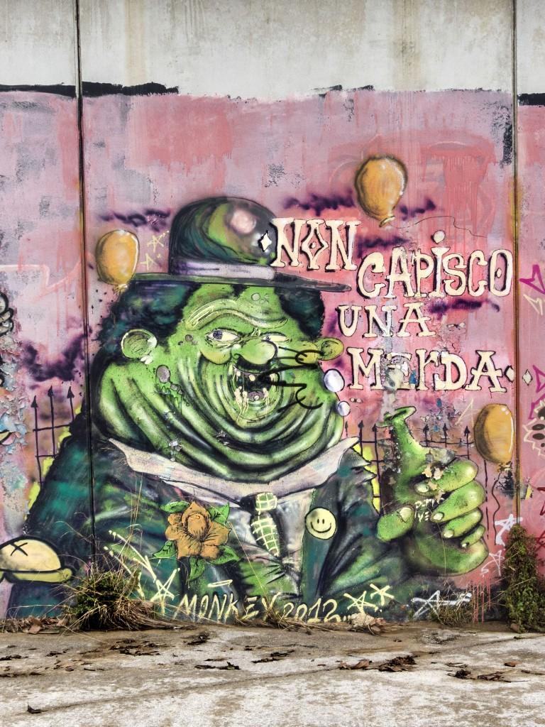 Arte urbano en Arenys de Mar, Barcelona, España