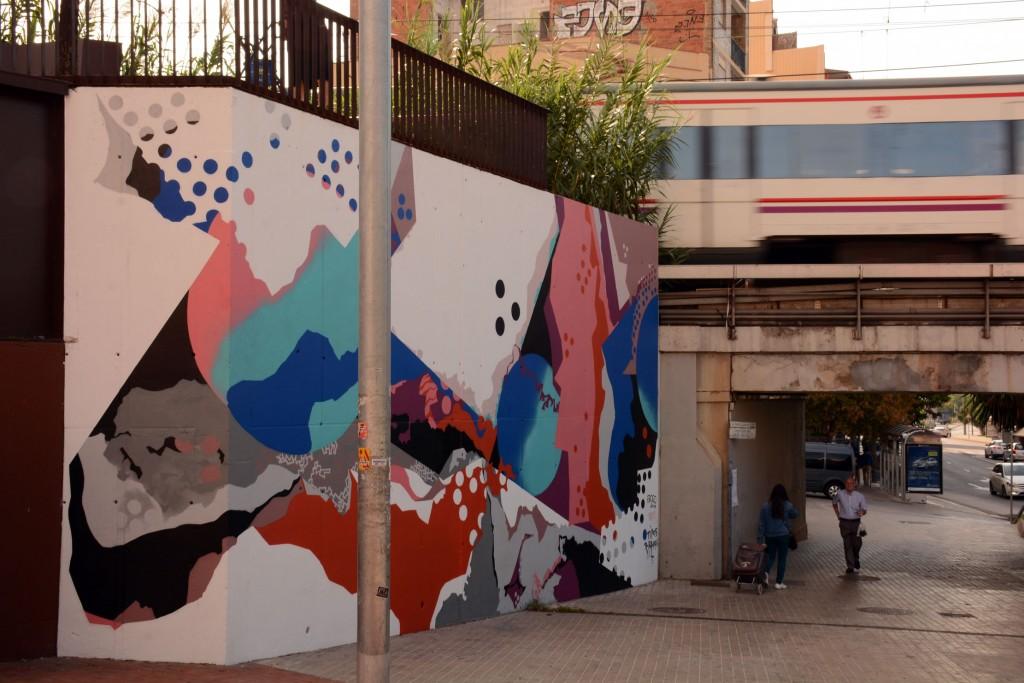 Spogo arte urbano en Barcelona