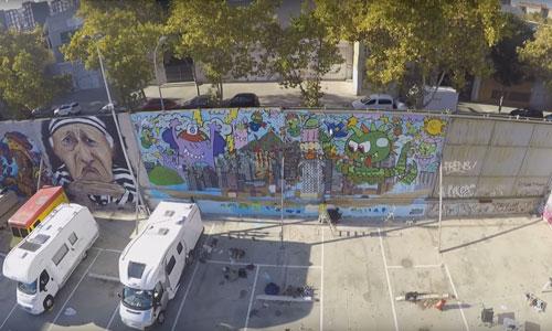 El Xupet Negre y Kamil arte urbano en Barcelona