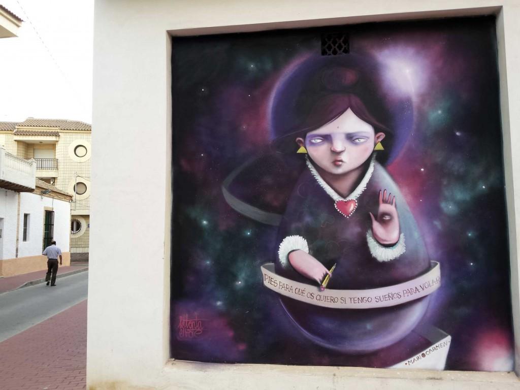 La tonta el bote arte urbano en Murcia