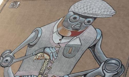 Pixel Pancho arte urbano en españa