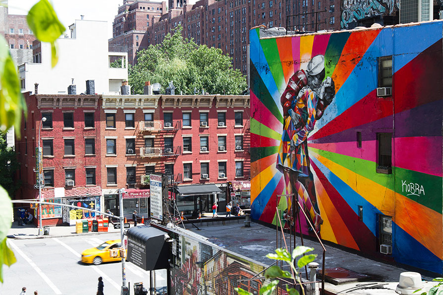 Kobra arte urbano en New York