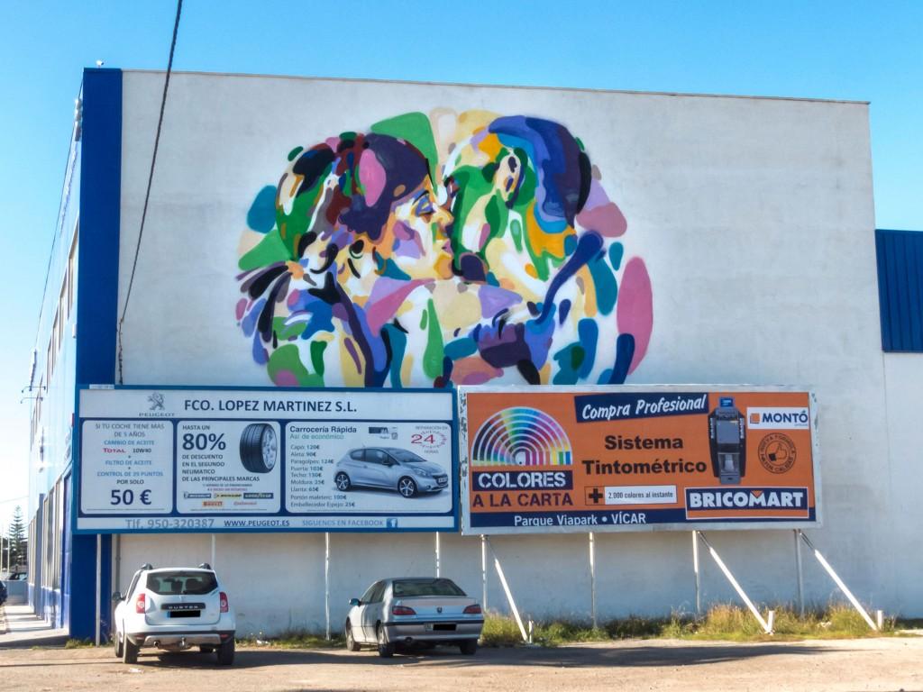 Sendra arte urbano en Almería España