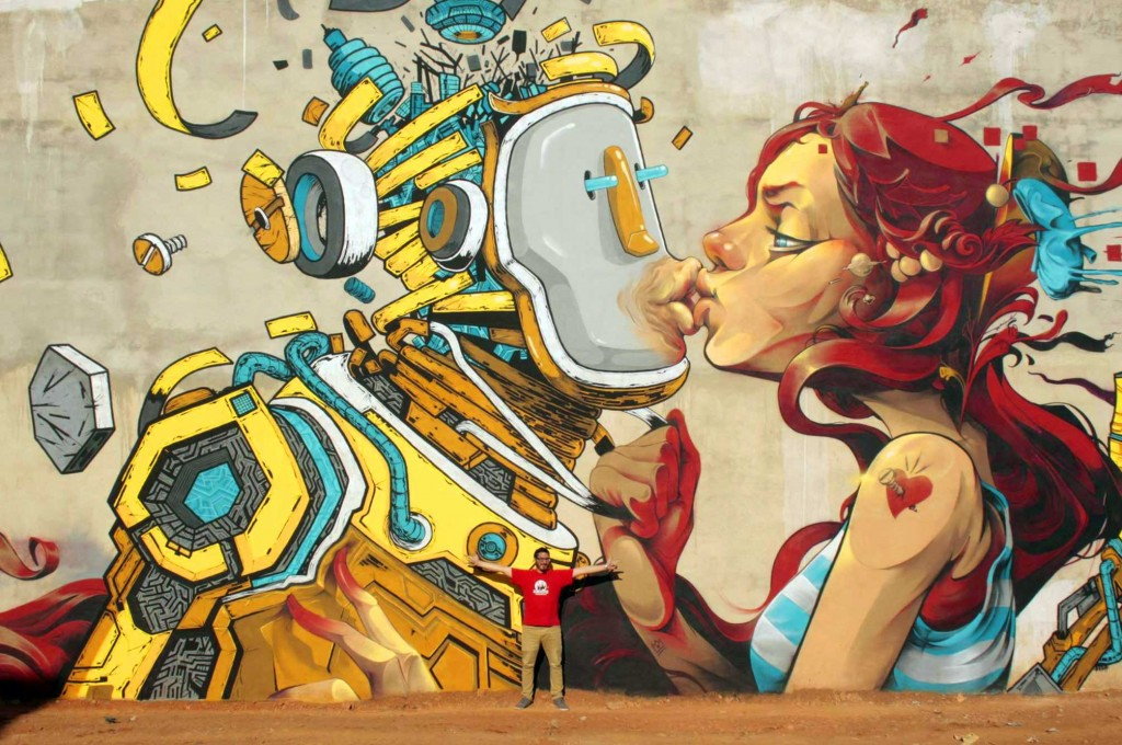 Xèlön Xlf. & Isaac Mahow, arte urbano Valencia