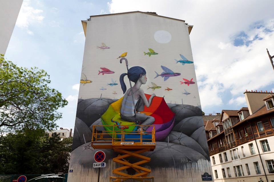 Seth arte urbano en París