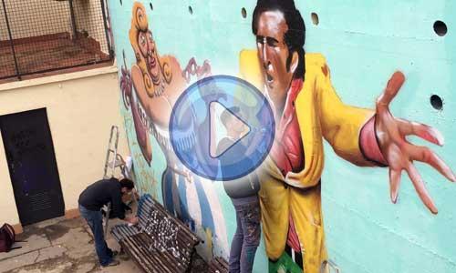 Video arte urbano en Barcelona