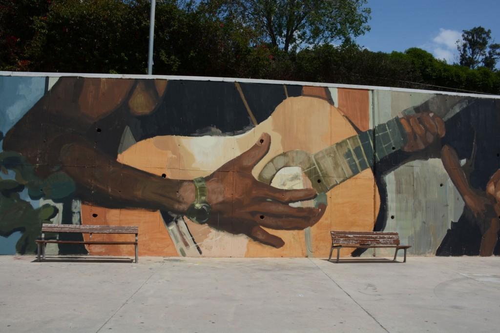 Mohamed Lghacham arte urbano Badalona