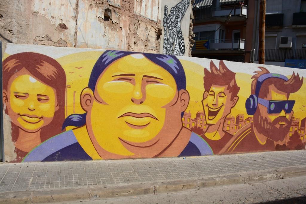 Daniel Thomas & Pedro Simón Ros arte urbano en Manresa