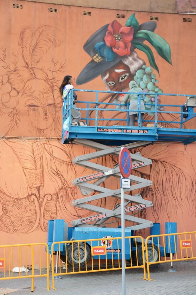 Miss Van arte urbano en Barcelona