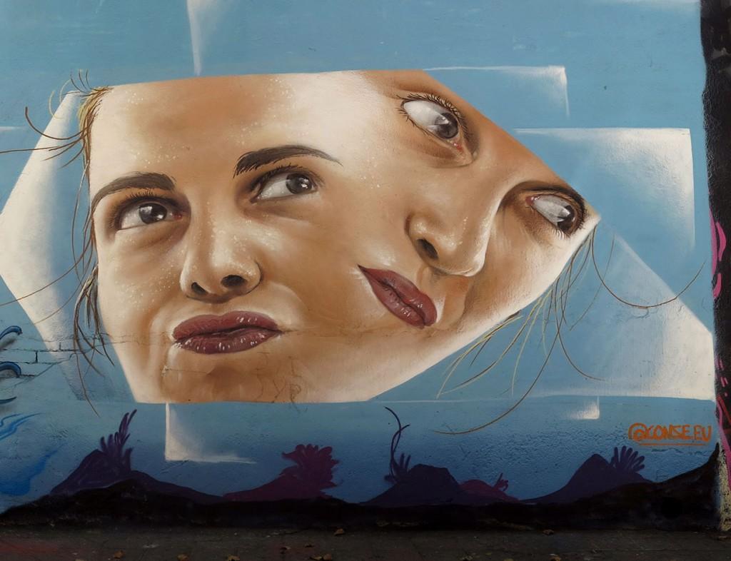 bublegum y Conse arte urbano en Barcelona