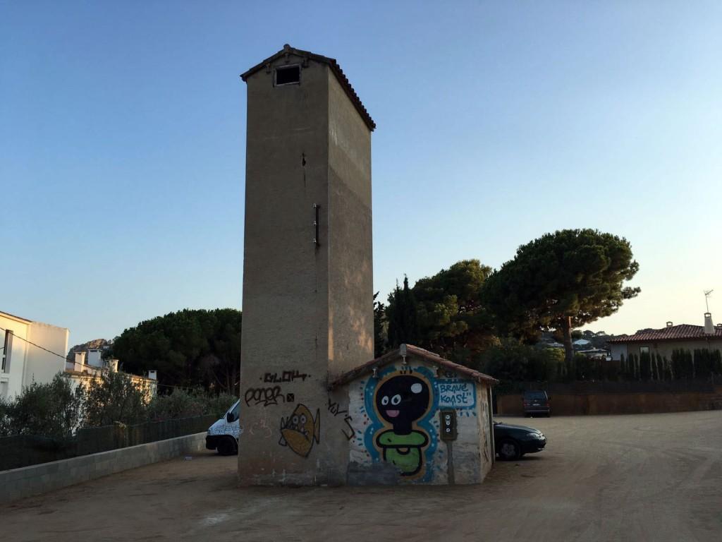 El Xupet Negre, arte urbano, Fornells, Begur