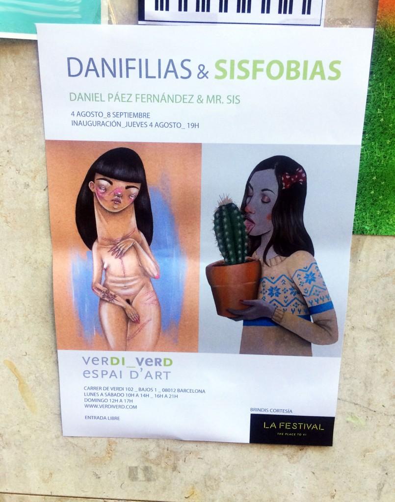 Daniel Páez & Mr. Sis exposición de ilustración en Barcelona