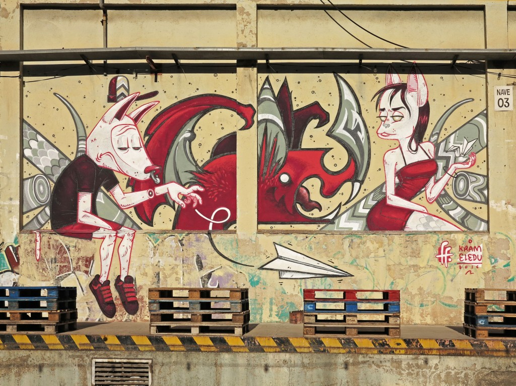 Kram y Eledu arte urbano en Barcelona