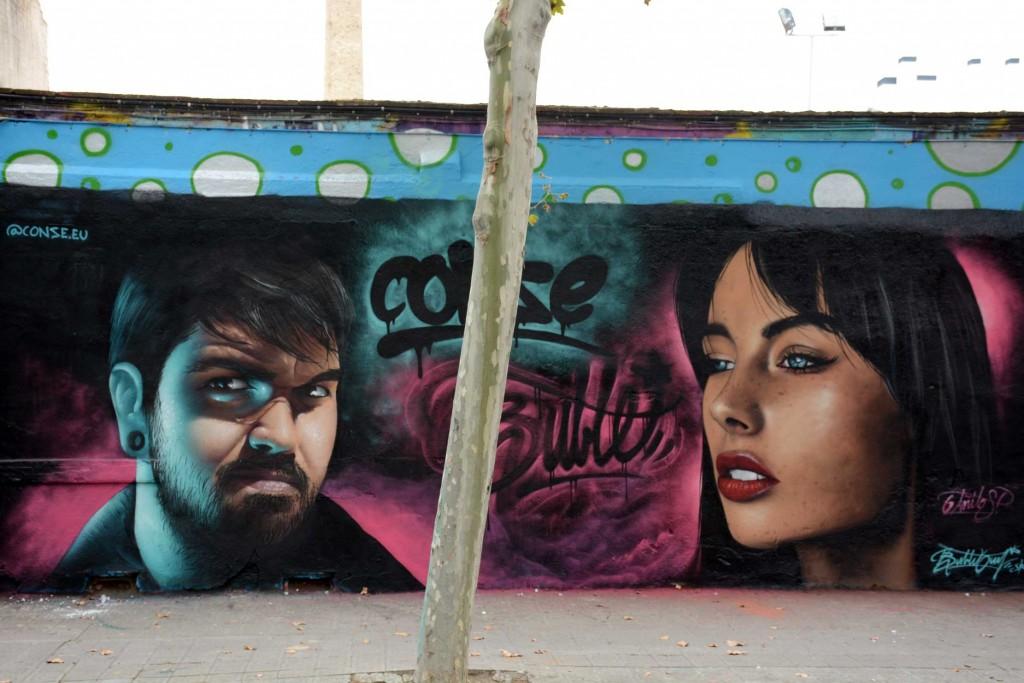 Conse & Bublegum arte urbano en Barcelona