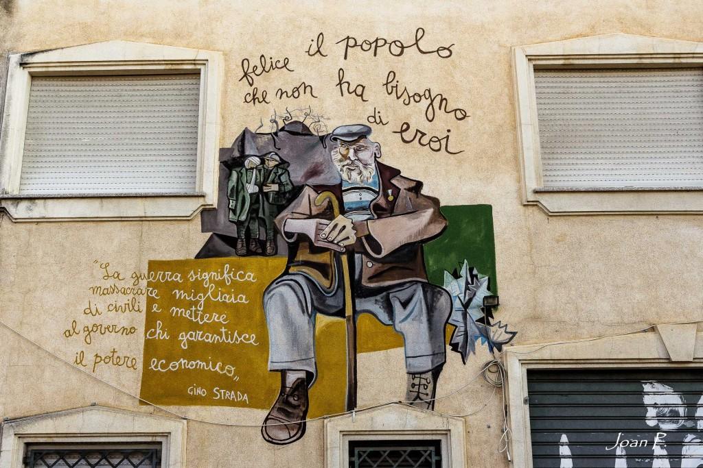 Arte urbano en Cerdeña, Italia