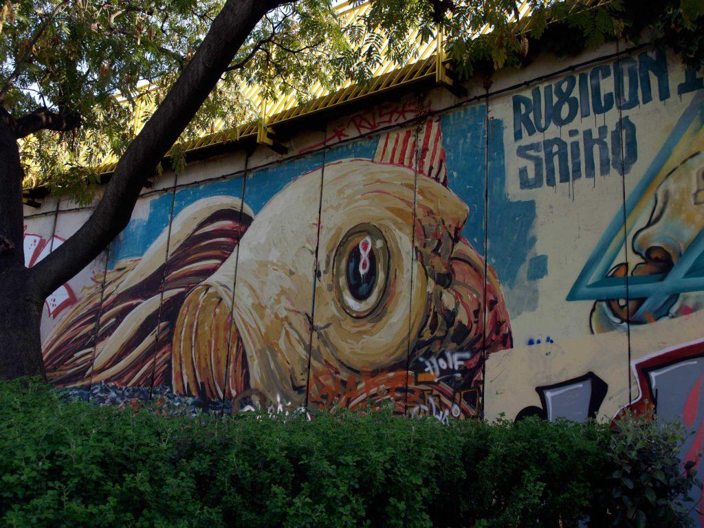 Ru8icon1 arte urbano en la plaza Botticelli de Barcelona