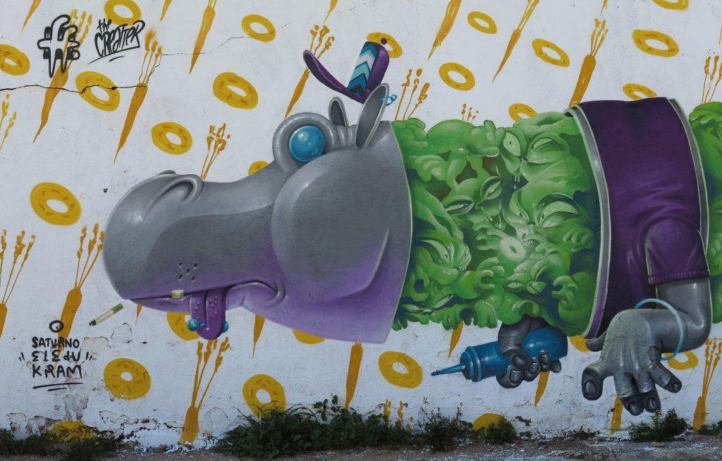 Saturno Kram Arte urbano Barcelona