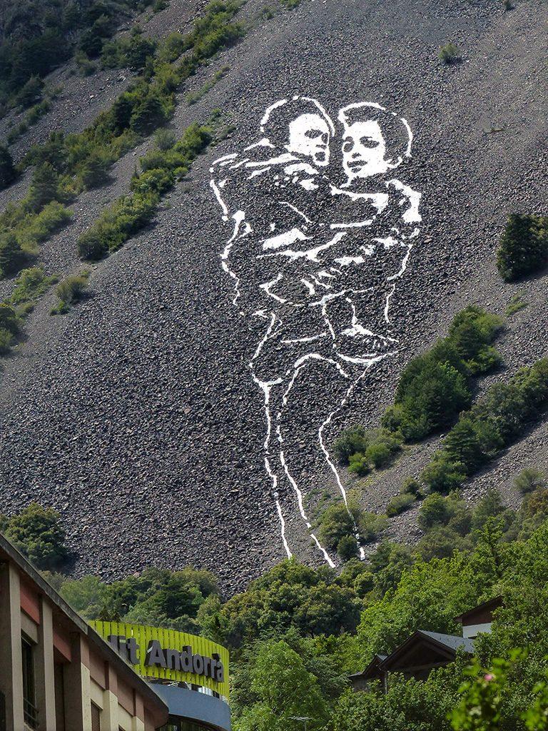 Marc Sellarés arte urbano en Andorra