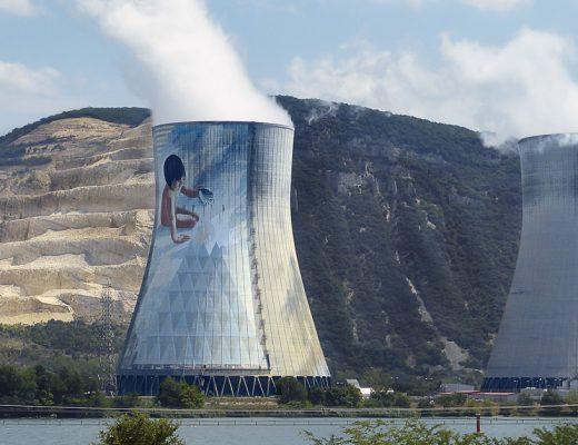 Arte urbano Jean-Marie Pierret planta nuclear Francia