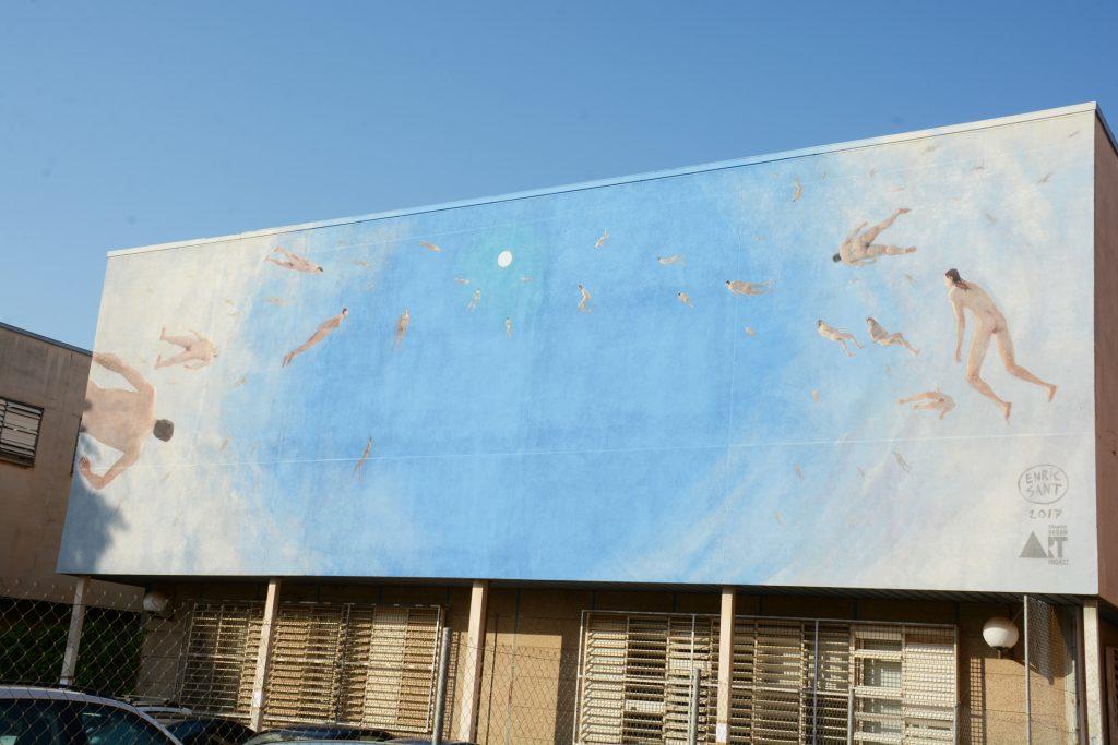 arte urbano Enric Sant, Bellas artes Barcelona