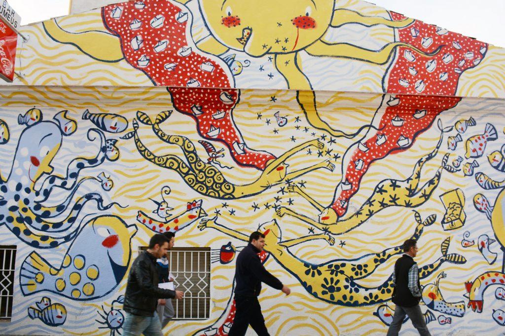 Arte urbano en Manresa del artista Valentí Gubianas