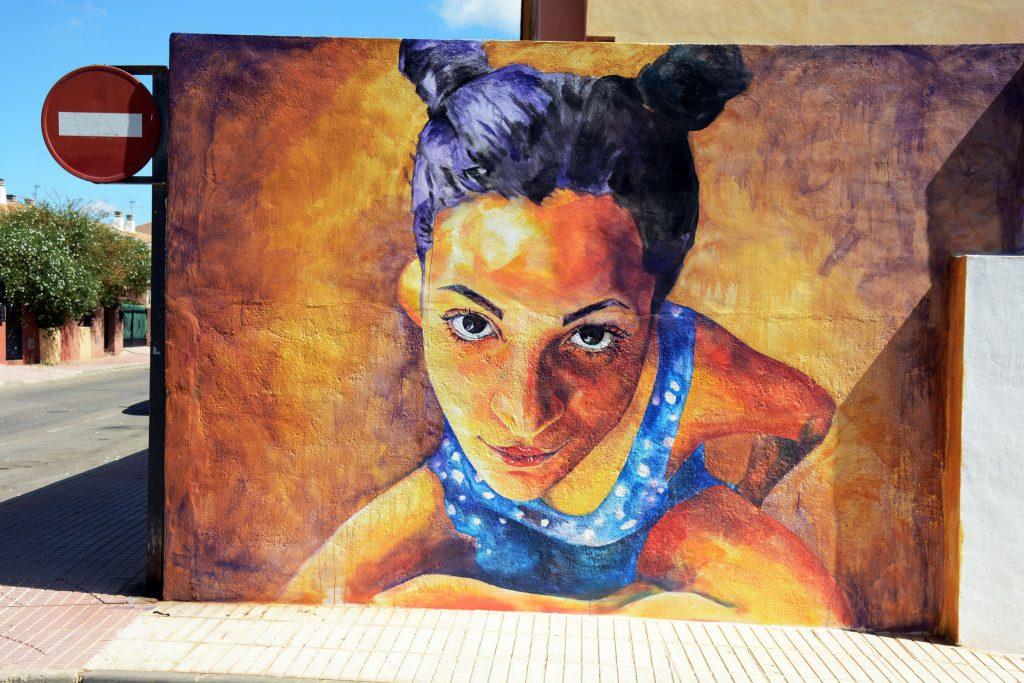 arte urbano Begoña Belmonte en los Alcázares, Murcia