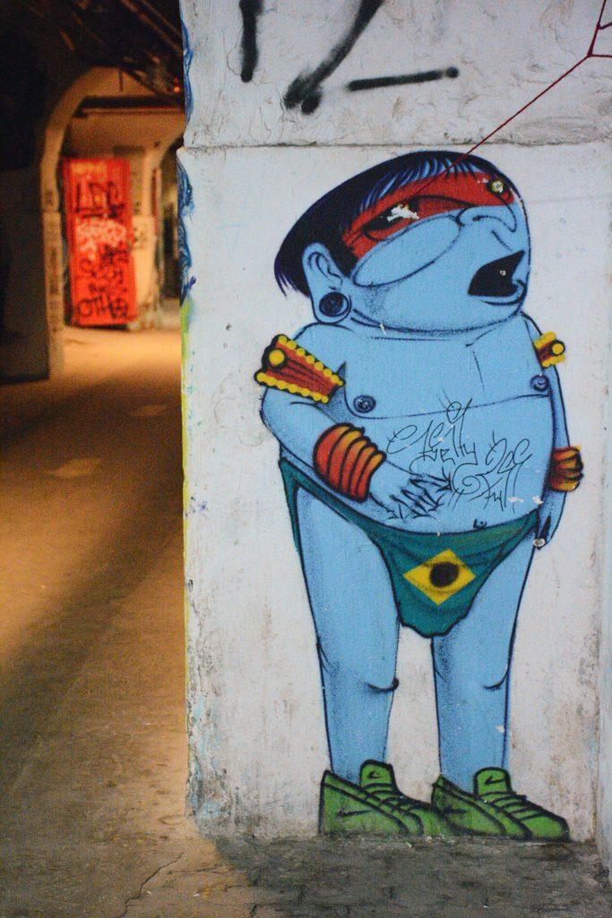 Arte urbano Cranio en Madrid