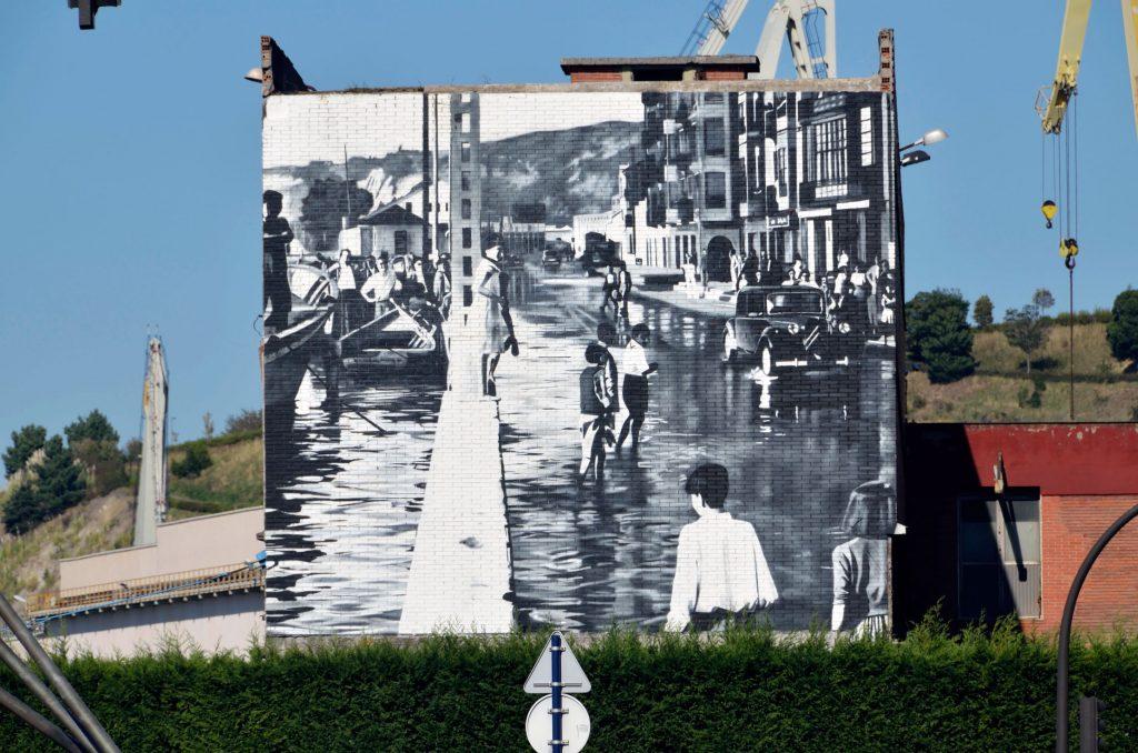 arte urbano Wallart en Erandio, Bilbao