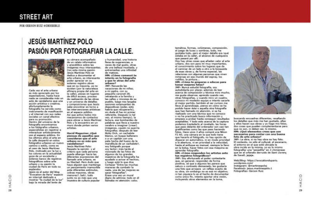 Arte urbano hacid Magazine 43 Jesus Martinez Polo