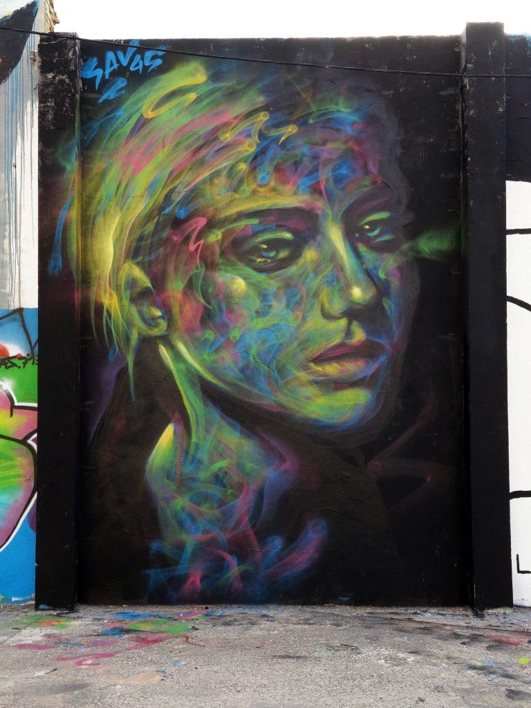 Arte urbano Sav45 Barcelona