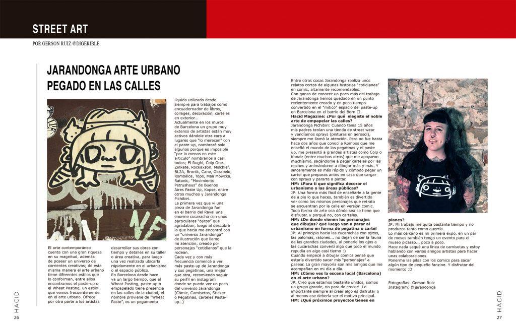 arte urbano Jarandonga Exposición