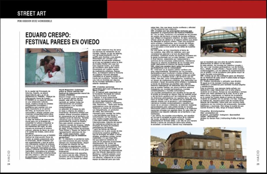 arte urbano PAREES festival Oviedo