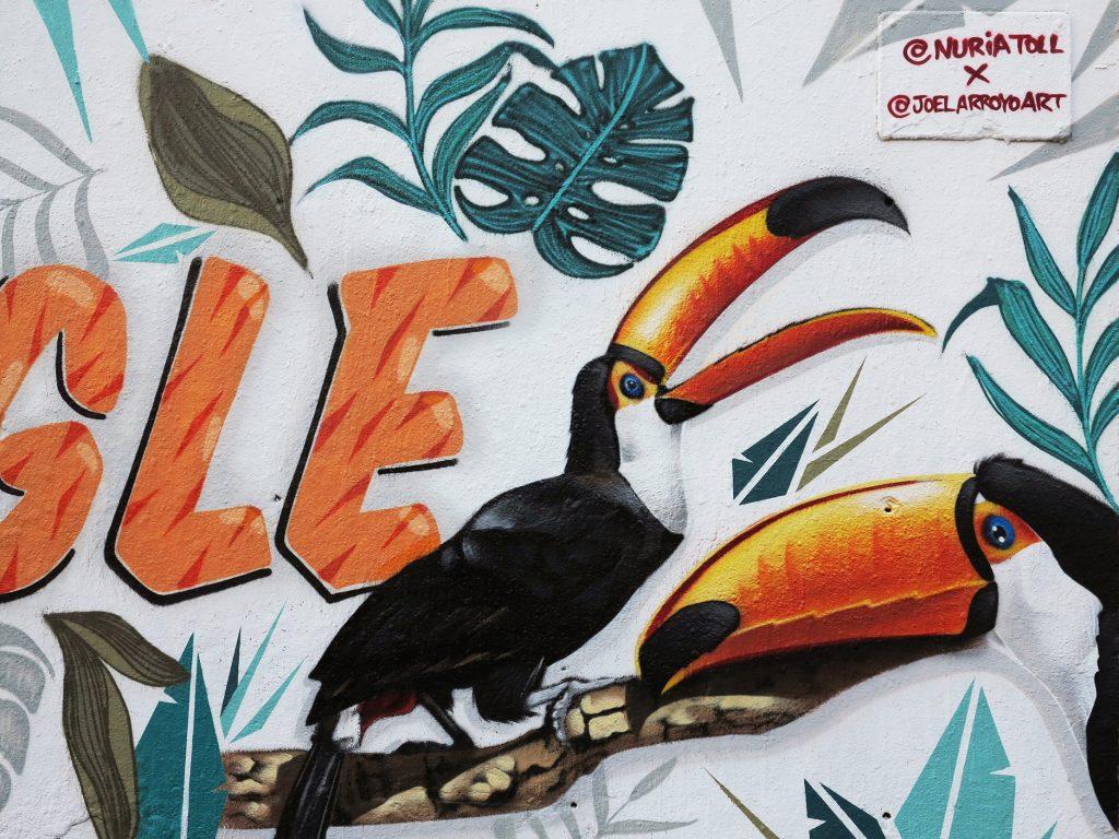Arte urbano Nuria Toll y Joel Arroyo, Barcelona