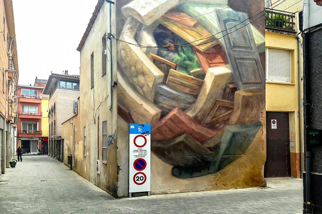 Arte urbano Cinta Vidal Granollers