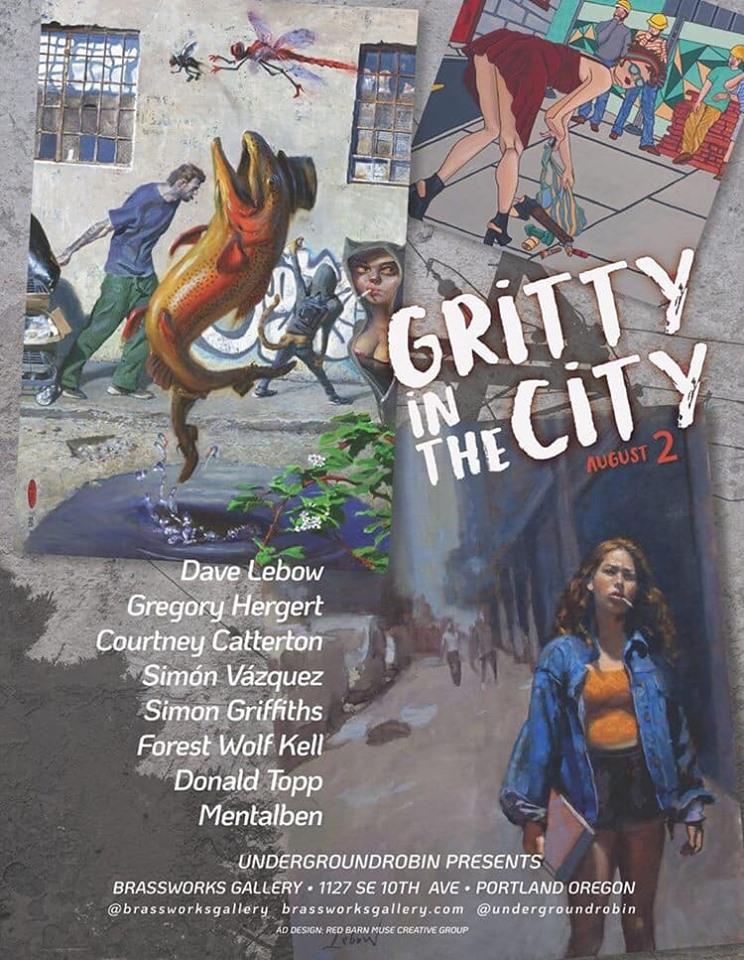 arte urbano Gritty In The City, Portland, Oregon