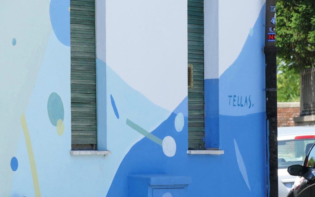 arte urbano Tellas, Pisa - Italia