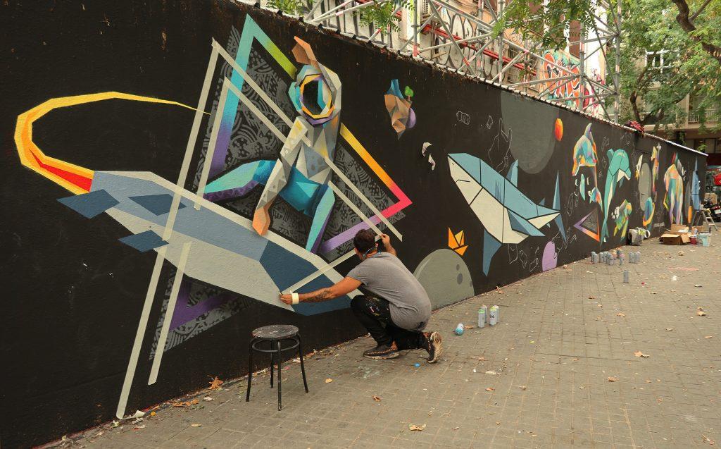 arte urbano Barcelona Núria Toll Tim Marsh