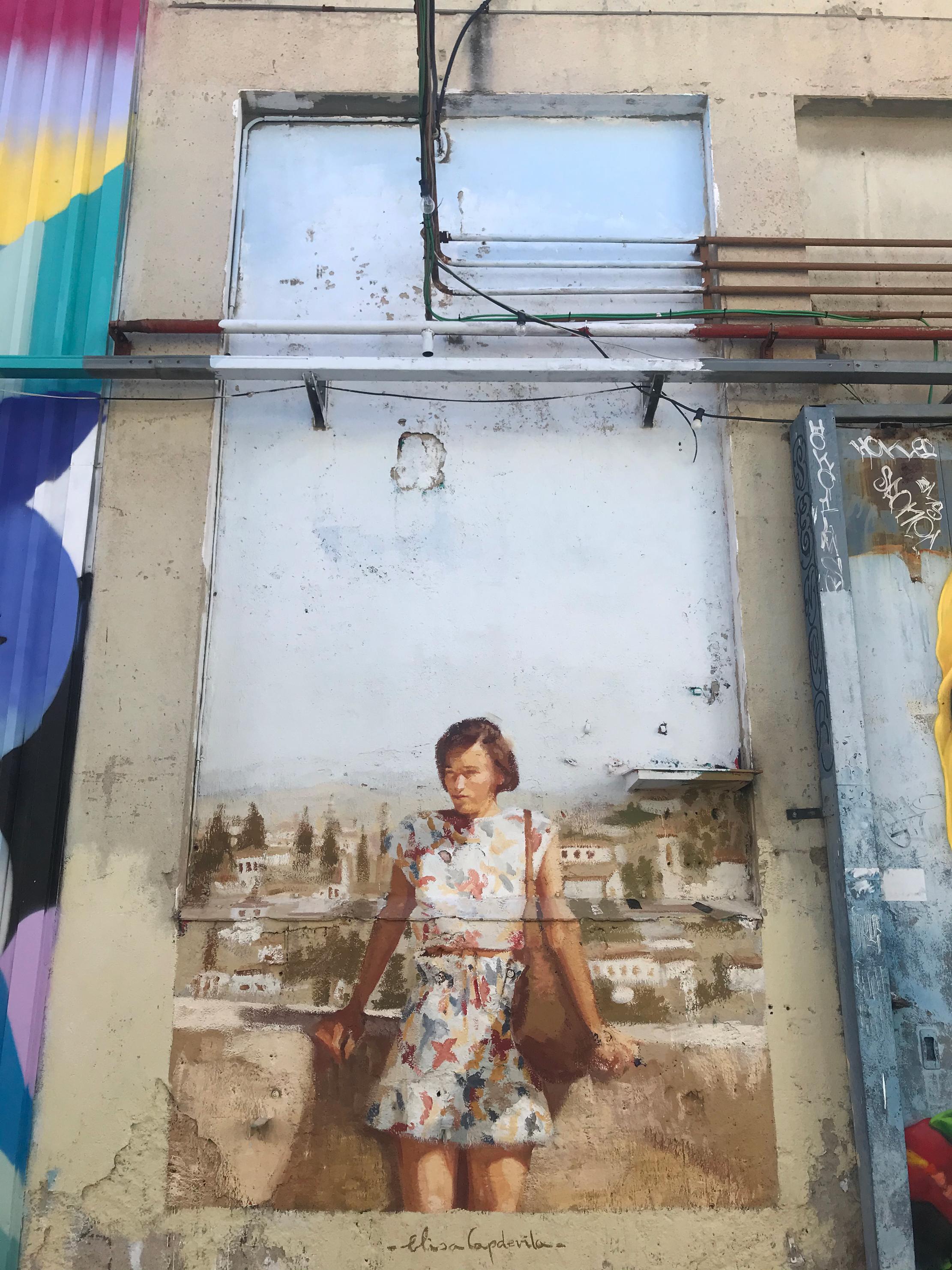 Arte urbano de Elisa Capdevila en Barcelona