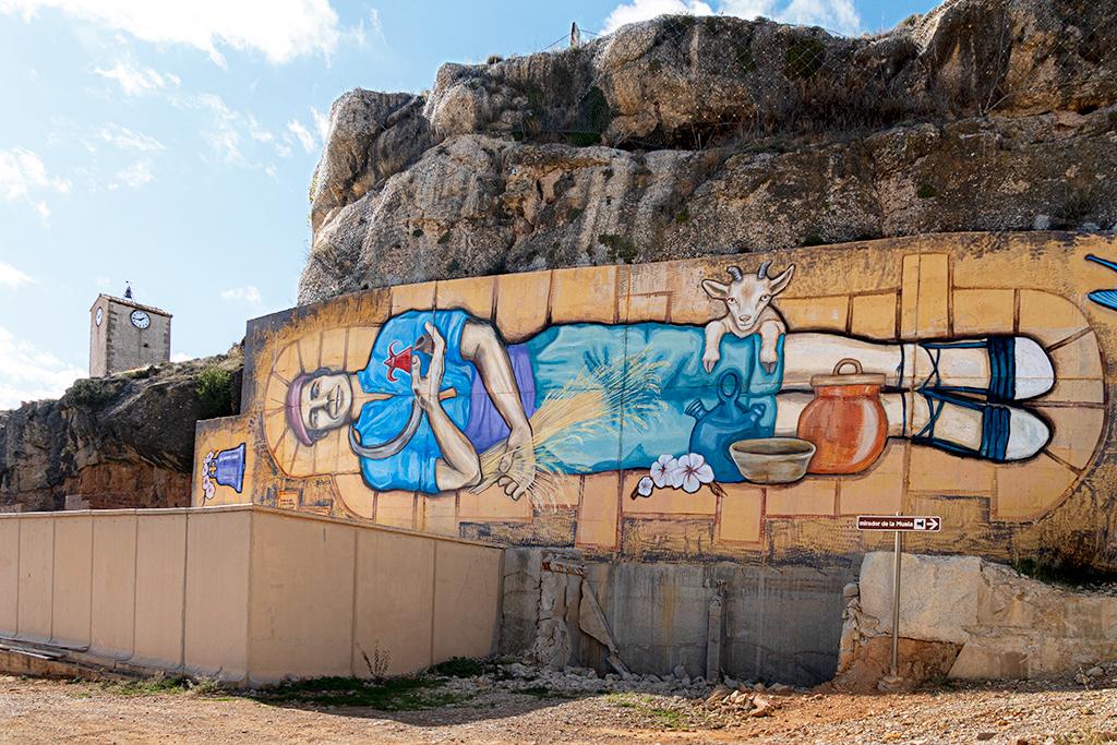 Arte urbano Mariel Rosales, Teruel