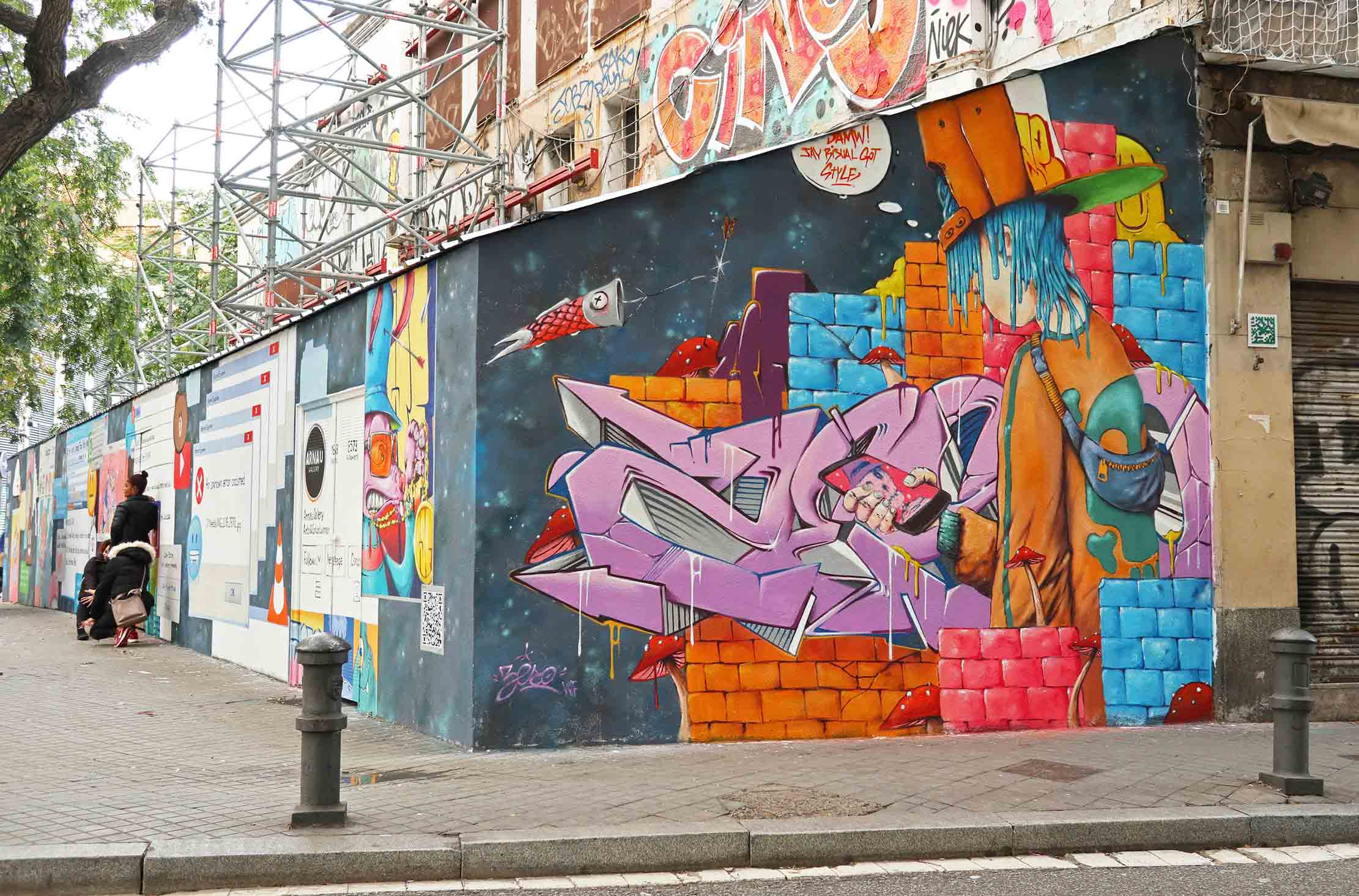 Jay Bisual & Zeso arte urbano Barcelona