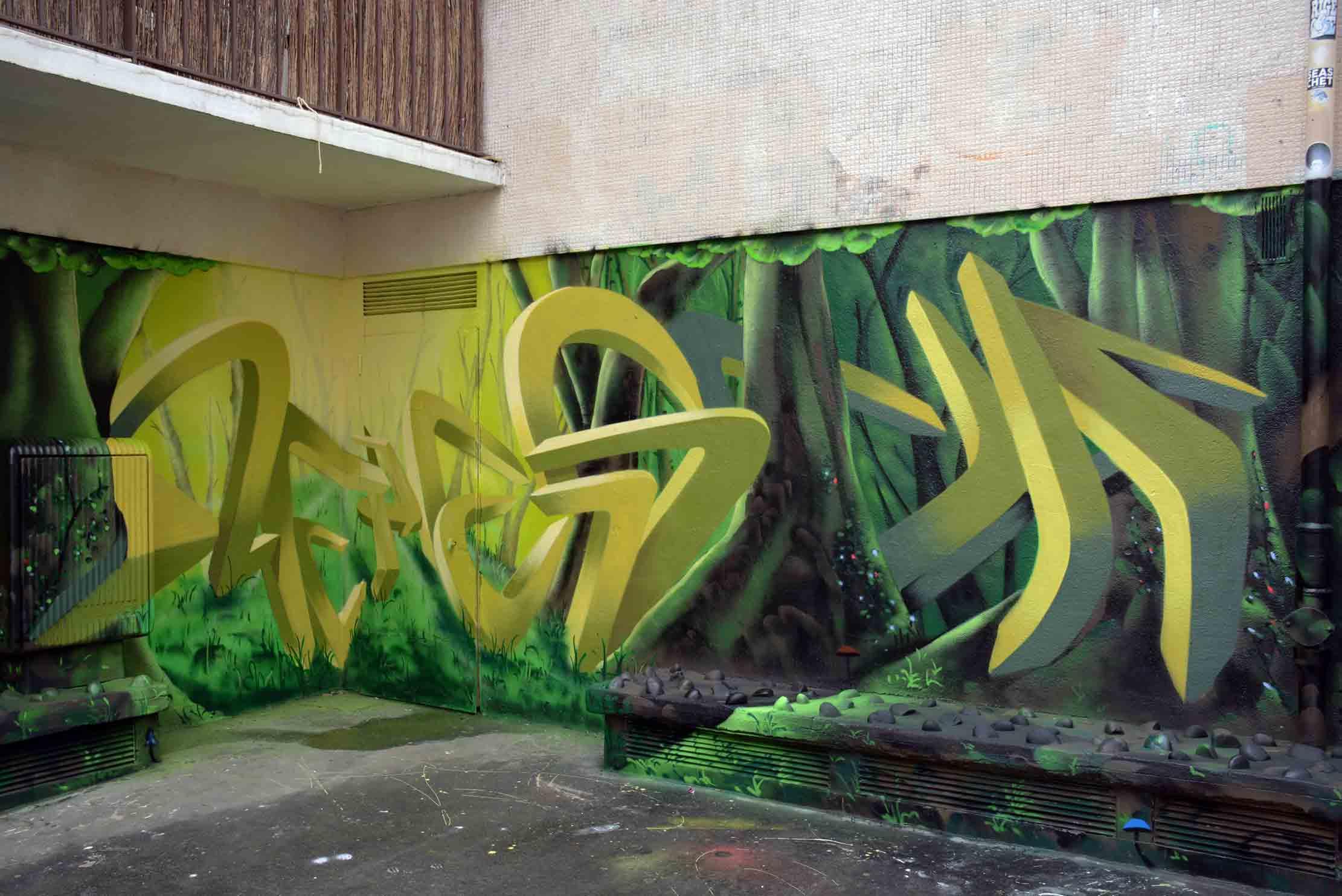 Arte urbano One Pesca Francia