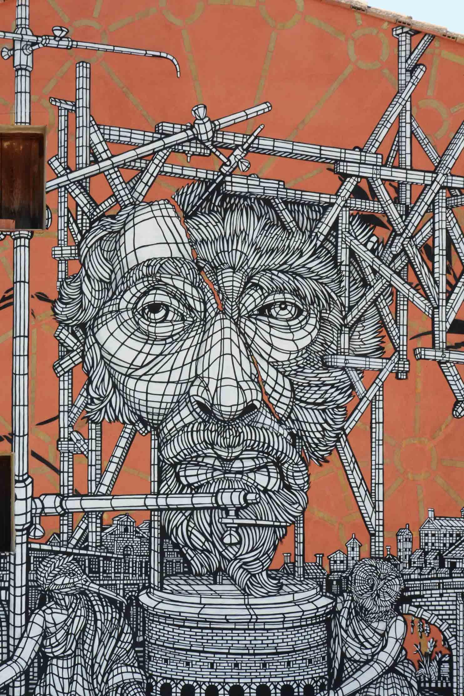 Arte urbano de Monkey Bird