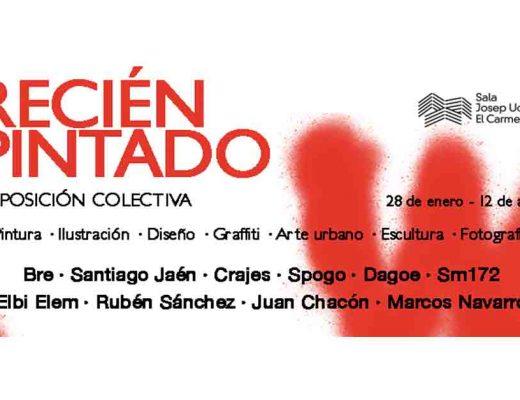 arte urbano Recién pintado Exposición colectiva en Badalona