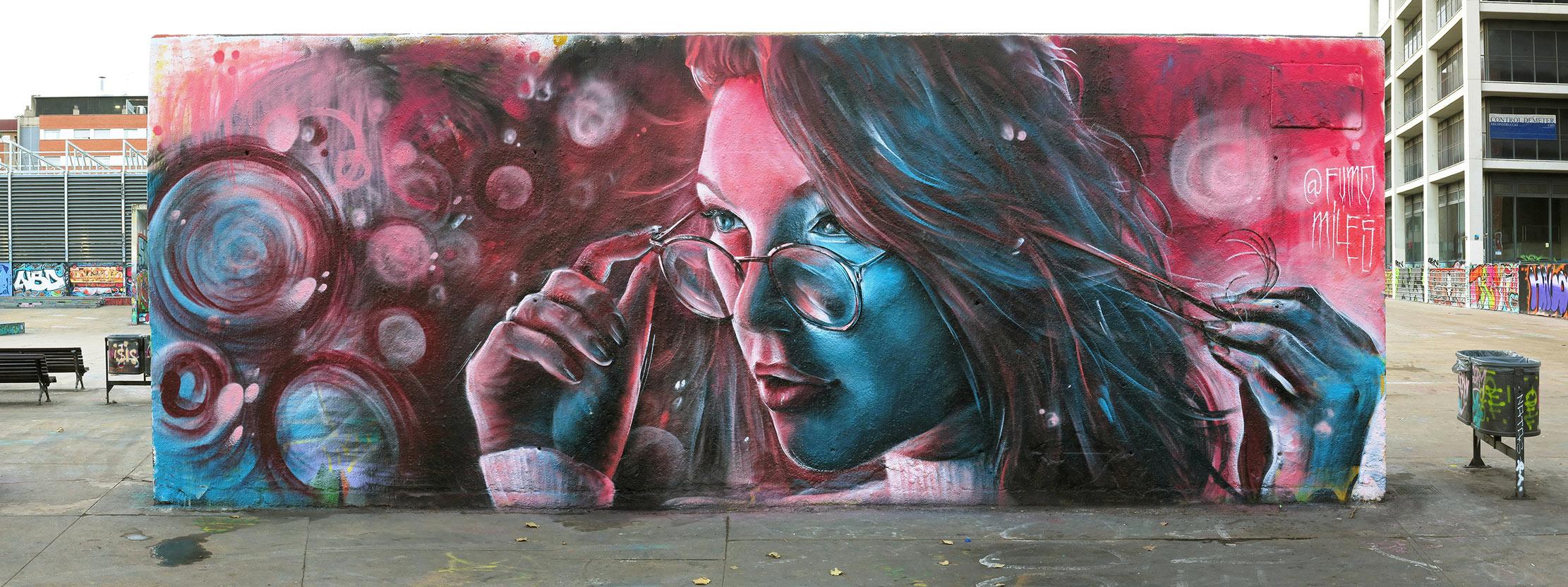 arte urbano Fumomiles Barcelona