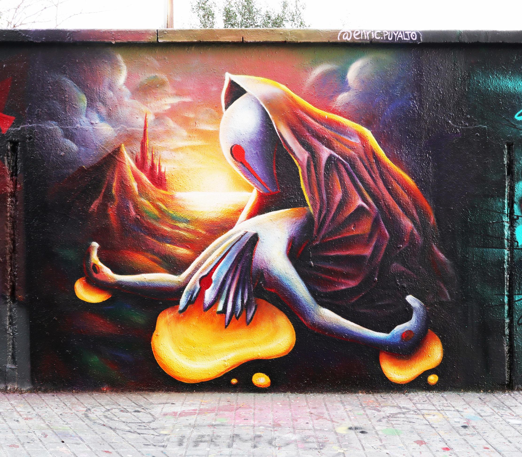 Arte urbano en Barcelona de Rezo, Albert Bonet y Enric Puyalto